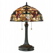 Kami Table Lamp in Vintage Bronze with Tiffany Glass - QUOIZEL QZ/KAMI/TL